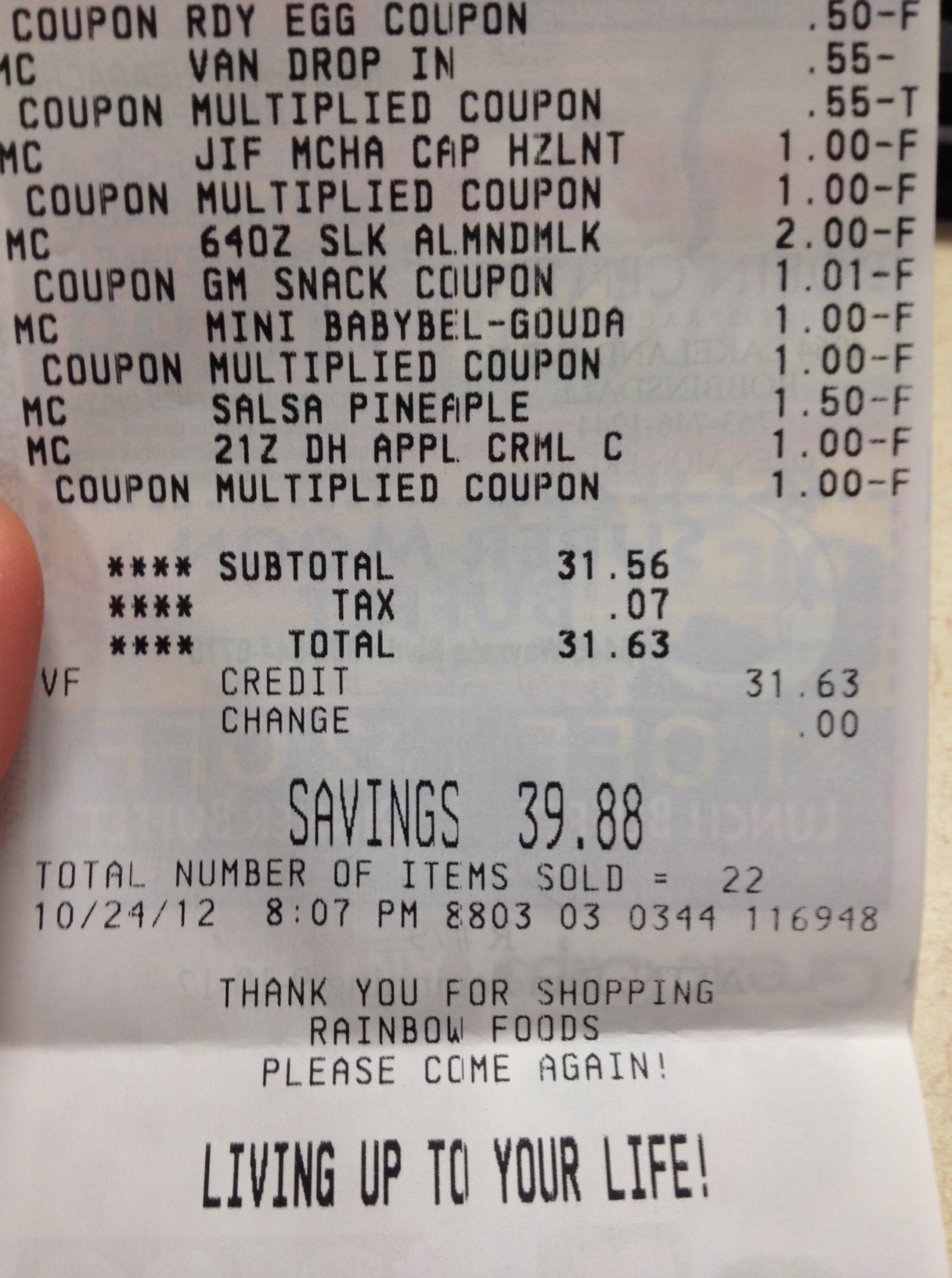 Rainbow grocery coupons