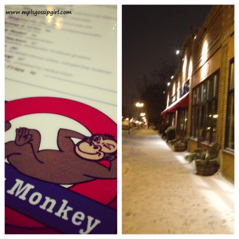 Cheeky Monkey Menu and Outside