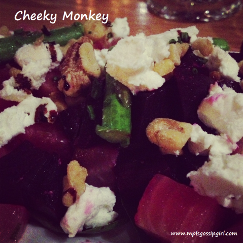 Cheeky Monkey Salad Beets, Goat Cheese