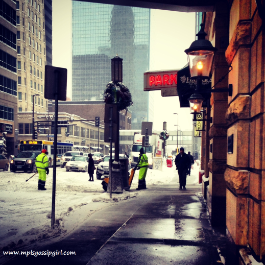 Minneapolis, Snow, Downtown